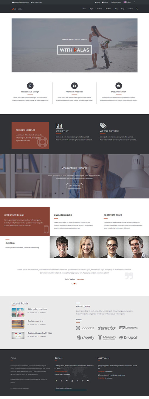 Palas - Multi-Purpose, eCommerce Drupal Theme